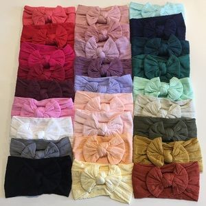 Other - 26 cable knit nylon baby headbands